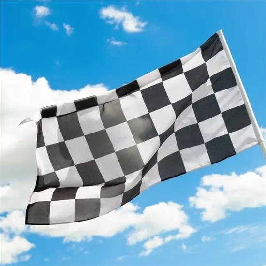 90 150cm digital print checkered flags 3 5ft F1 race check banners polyester black and white