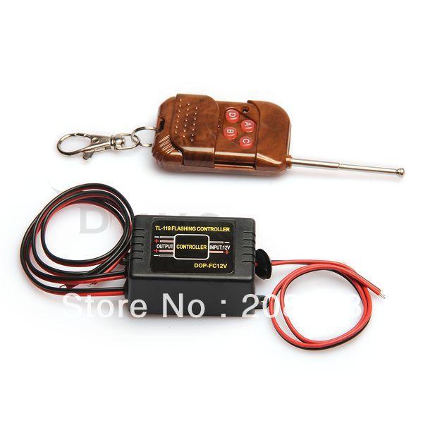 16 Flashing choose Car Truck Flash Strobe Light Bulbs Lamp Wireless Remote Control Controller(China (Mainland))