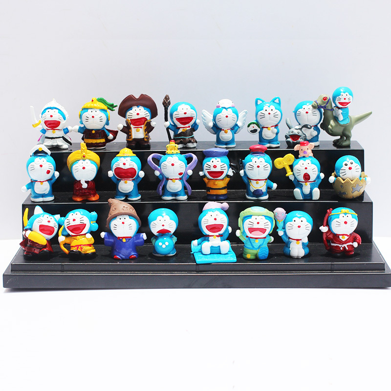 Doraemon figures all 24pcs/lot Nobita Nobi Figure PVC Dolls Shizuka Minamoto Takeshi Goda Dorami Doranikov(China (Mainland))