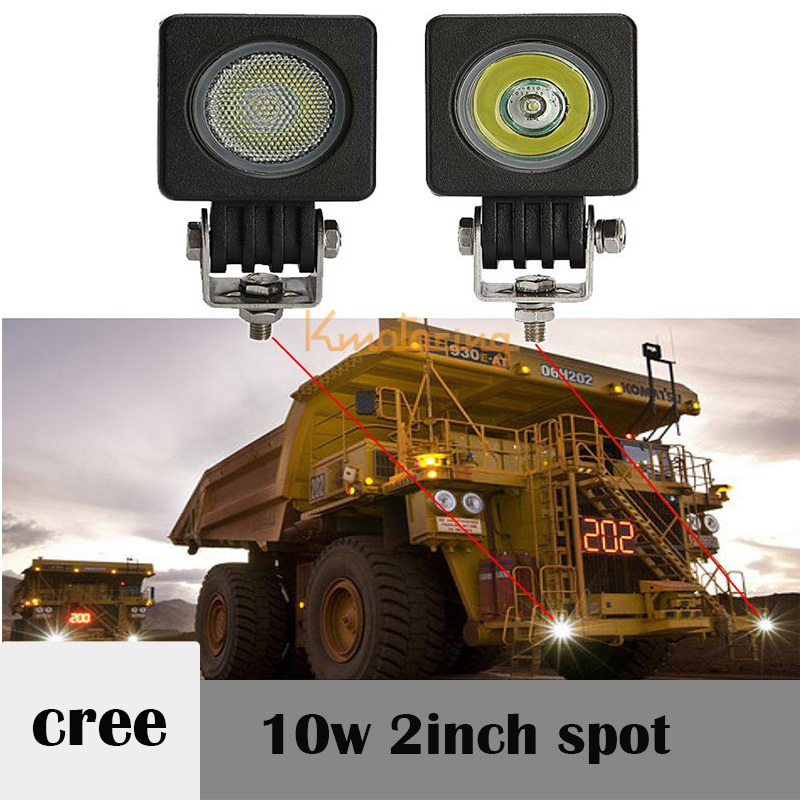 2 Iinch  10W CREE LED WORK  Lamp Tractor Boat Off-Road 4WD 4x4 12v 24v Truck SUV ATV Spot  Super Bright motocycle auto part (China (Mainland))