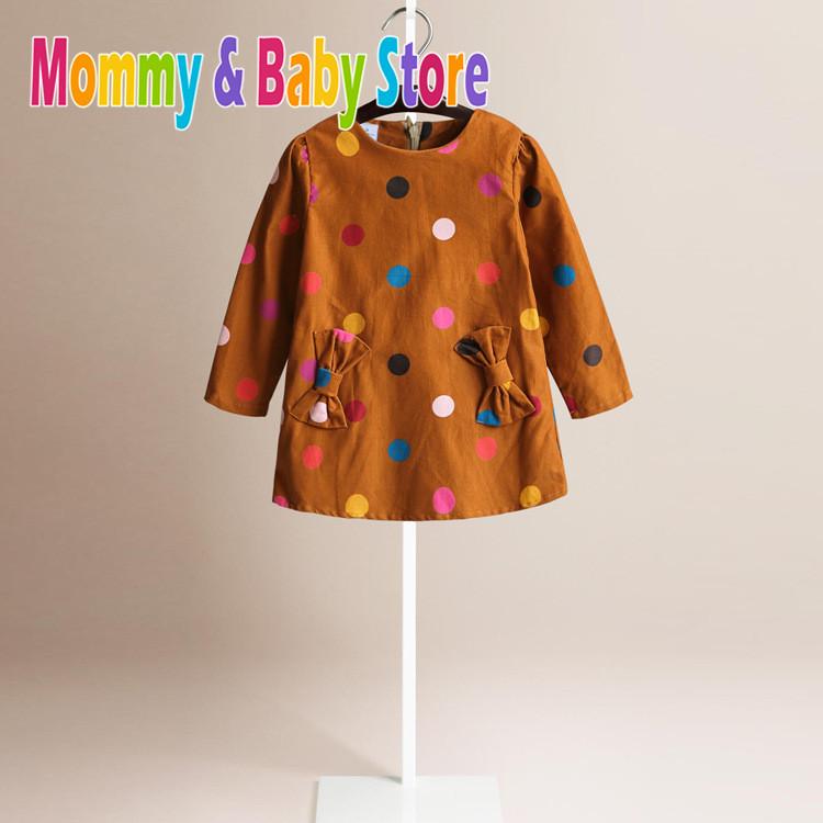 3 color styles girls thanksgiving dot corduroy dress girl's plaid Dresses children Clothing Princess dress(China (Mainland))