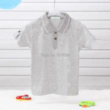 LeJin Children Boys T Shirt Boys Shirts Summer Polo Shirt Short Sleeves Striped in 100% Cotton Knitted Jersey