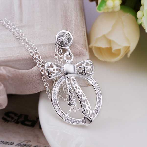 Free Shipping New Sale 925 silver necklace Insets Cross Circle colar vintage 100% Hand Madeball(China (Mainland))