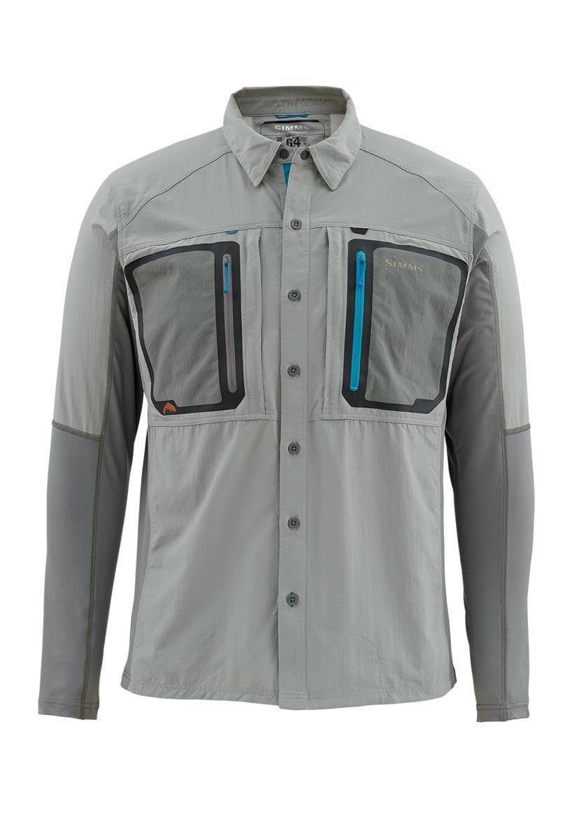 2017 New Simms Men Taimen Tricomp LS Shirt Brand Quick-dry G4 Shirt Outside UPF50 USA Plus Size M-2XL Shirts camisa masculina
