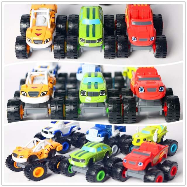 New Blaze Car Trucks Model Single Sale Monsters Machines Racing Car Toys Mud Racin Pickle Darrington Zeg Crusher Stripes Toys