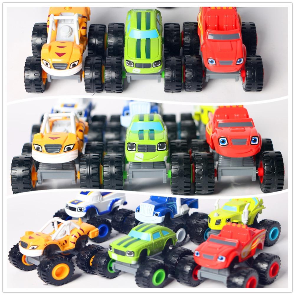 New Blaze Car Trucks Model Single Sale Monsters Machines Racing Car Toys Mud Racin Pickle Darrington Zeg Crusher Stripes Toys(China (Mainland))