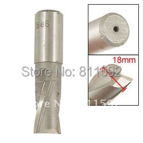 Dual Flute Straight Shank 18mm Dia Keyway Milling Cutter 5 Pcs<br><br>Aliexpress