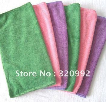 Free Shipping 25cmx25cm Microfiber Cleaning Cloth Dish Cloths Microfibre Glass Window Housekeeping Towel Dust Rags Wholesale