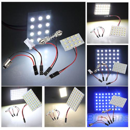 Лампа подсветки багажника 12/24/36/48 3528 SMD T10 BA9S 027J 37EN