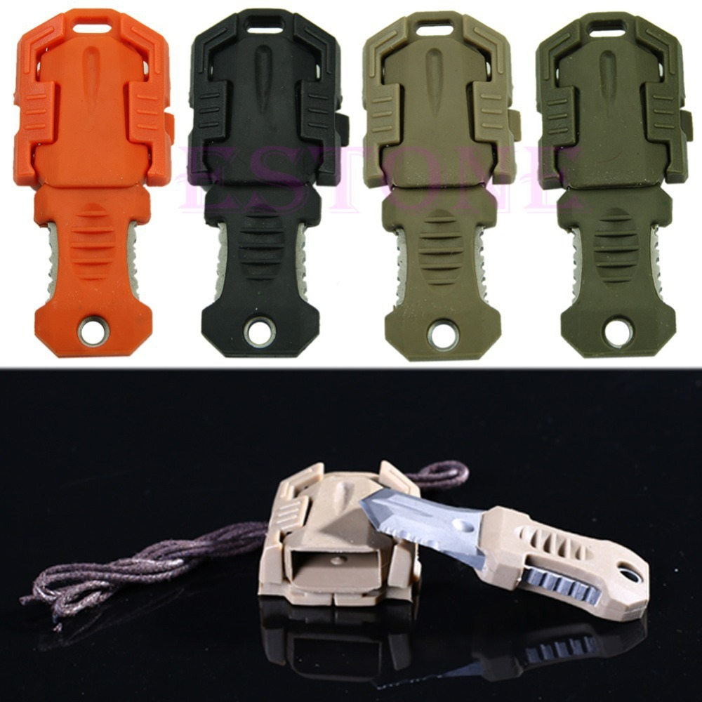 Multi functional Stainless steel mini knife EDC tool webbing buckle Molle camp survival gear utility Outdoor portable(China (Mainland))