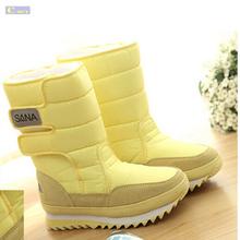 Botas de nieve de Las Mujeres Winter Warm Plush Botas de Dulces de Colores de Moda A Prueba de agua Zapatos de Las Mujeres Más Tamaño EU35-39(China (Mainland))