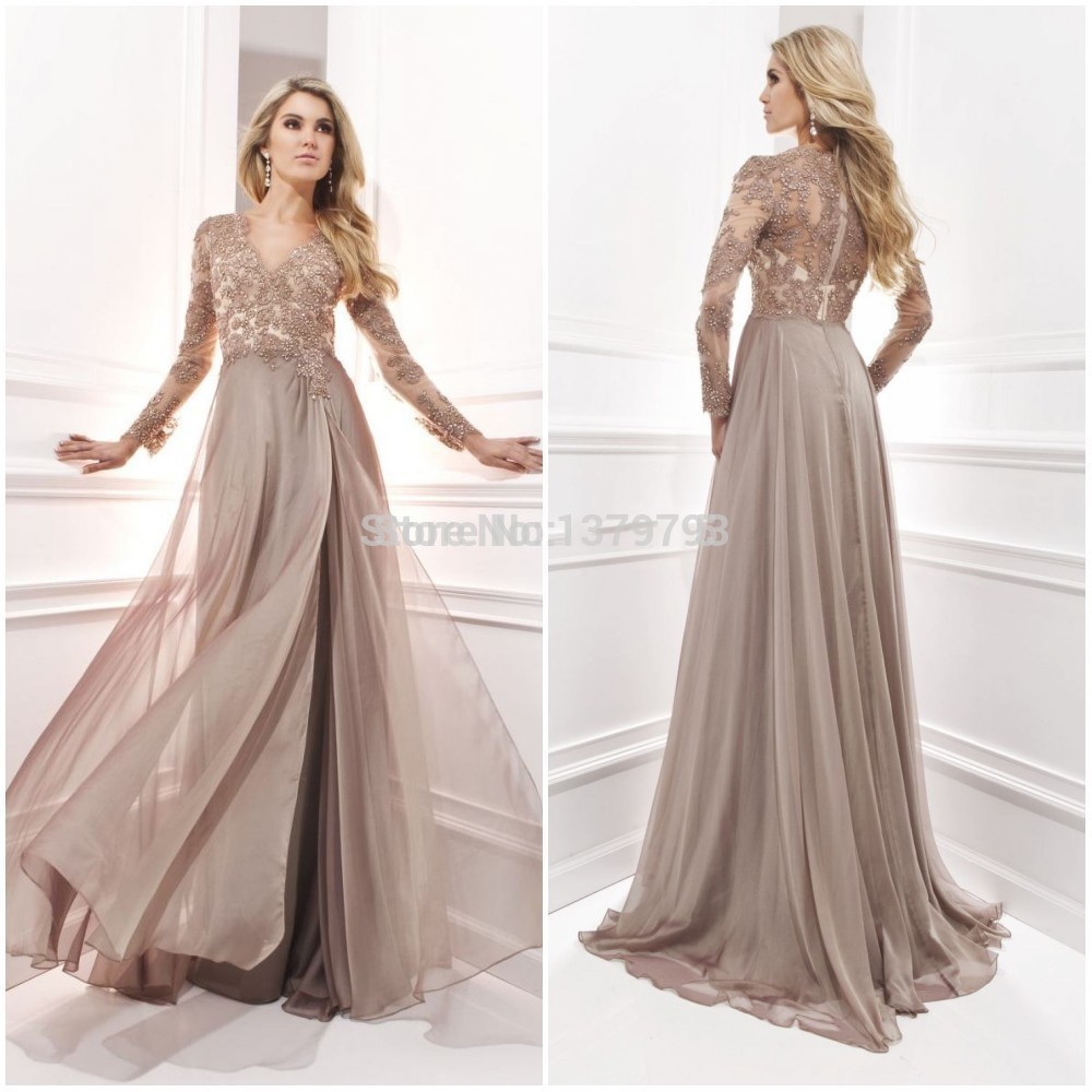 Search on aliexpress by image elegant long sleeve a line v neck chiffon lace beaded long maternity evening dresses 2015 vestido festa longo noite ombrellifo Gallery