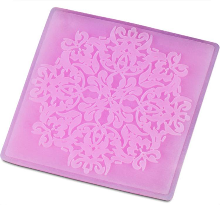Best 3D Silicone Lace Famous Fondant Press Molds DIY Cake Chocolate Decoration Moulds Bake Candy Decoratings Tools(China (Mainland))