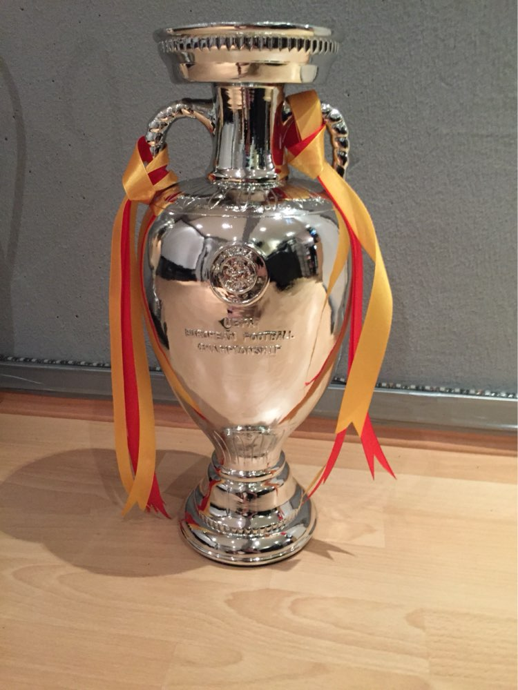2016 European Football Cup French Henri Delaunay 45CM Replica Football Trophy Soccer Europa League Cup Real Pictures By Clients(China (Mainland))
