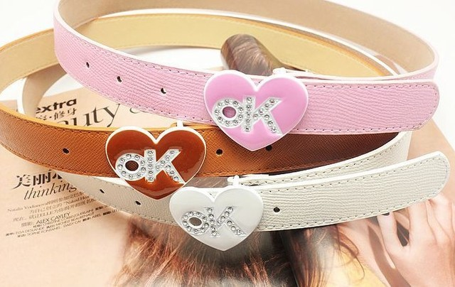 Women leather belts  Accessories rhinestone Studded leather  ladies' waistband belts