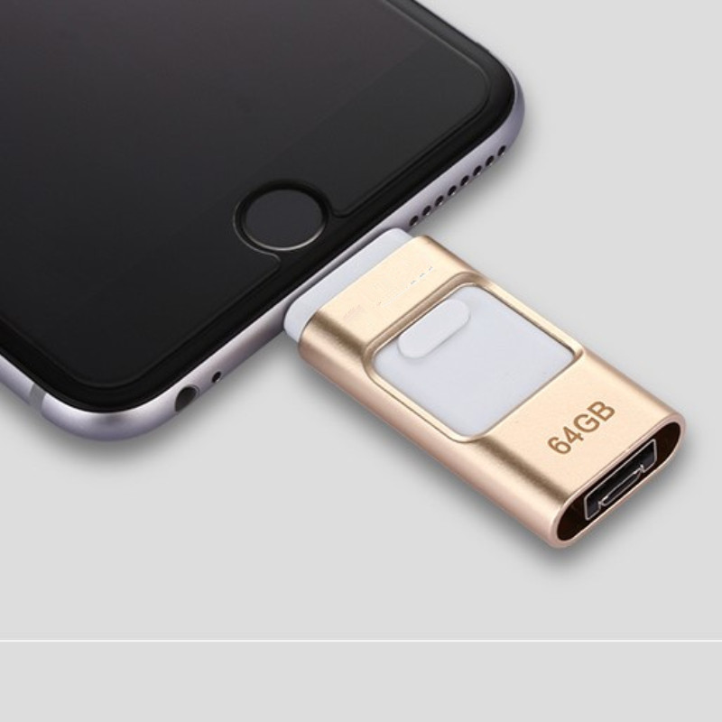 For iPhone 7 7s Plus 6 6S ipad Pen drive memory stick Stable performance OTG Micro USB Flash Drive 16GB 32GB 64GB 128GBPENDRIVE(China (Mainland))