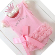 Free Shipping Little Baby Girl Pink Cotton Cute Princess Dress/Dancing Dress(China (Mainland))
