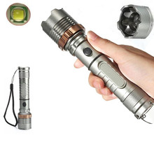 CREE XML-T6 LED  3000 LM  floodlight penlight Flashlight Torch 3 Modes zoomable Adjustable Focus Lantern(China (Mainland))