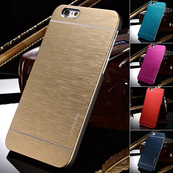 Luxury Aluminum Case for iPhone 6 4.7 Inches Phone Hard Aluminum Skin Plastic Back Cover Brand New 2015(China (Mainland))