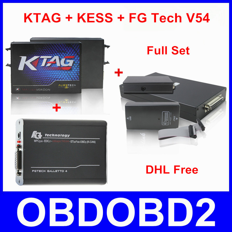 Best Match KESS V2 + KTAG + FG Tech V54 ECU Chip Tunning Tool K TAG K-TAG V2.06 J-Tag FGTech Galletto 4 No Tokens Limitted(China (Mainland))