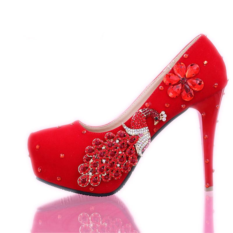 2014 womens fashion red rhinestones bridal wedding shoes female dress shoes sy-536<br><br>Aliexpress