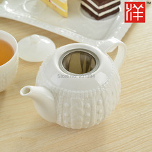 High grade bone china Drinkware Coffee Tea Set Wool relief process Ceramic teapot coffee pot Gift