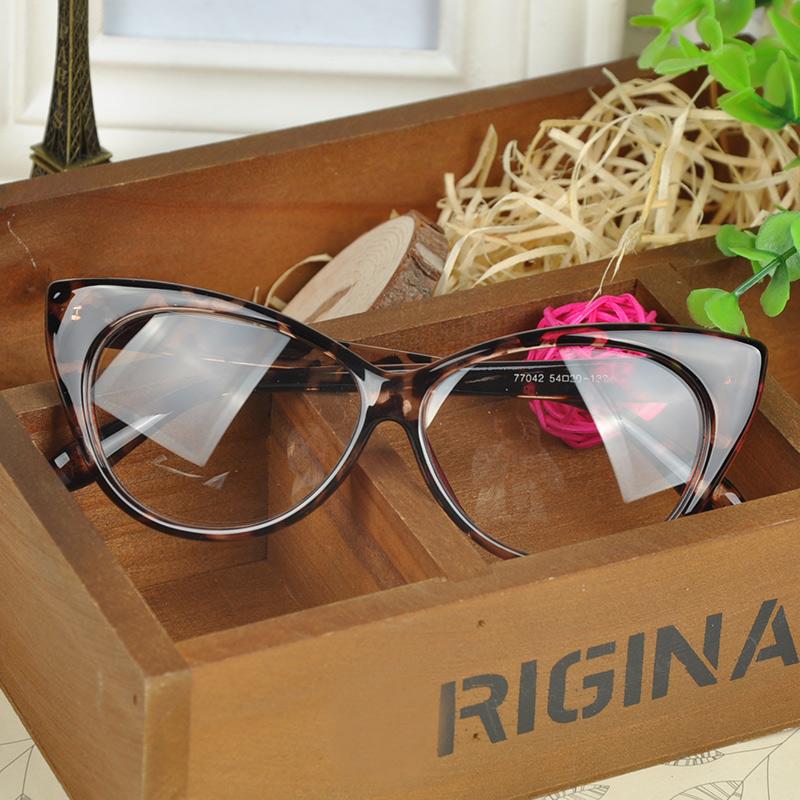 Plain Eye Frame Sunglasses Spectacle Cat Eye glasses Birthday Gift 2015 Eye Styling Leopard Sun Glasses Frame PHM458*55