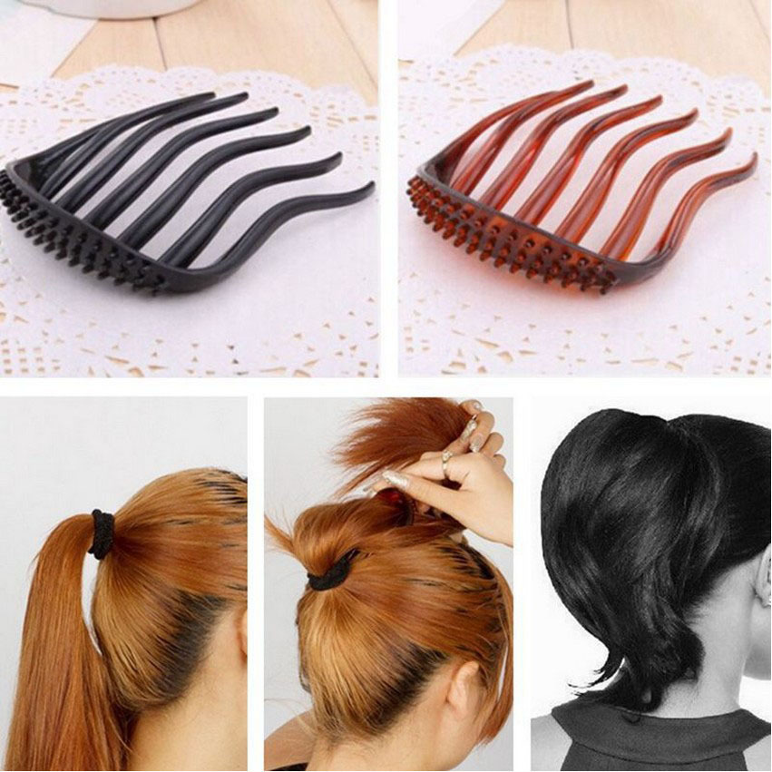 1 PC Useful Volume Inserts Hair Clip Bumpits Bouffant Ponytail Hair Comb Bun Maker Accessories for Women A7R33C(China (Mainland))