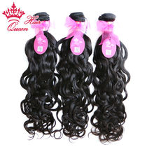 Queen Hair Products Brazilian Virgin Hair Natural Wave Water Weave 100% Unprocessed Human Hair Weave Hair Extension 3pcs/lot(China (Mainland))