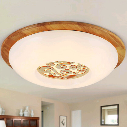 Modern minimalist circular acryl Ceiling Lights Simple fashion wood art indoor living room Led lamp for corridor&porch&stairs(China (Mainland))