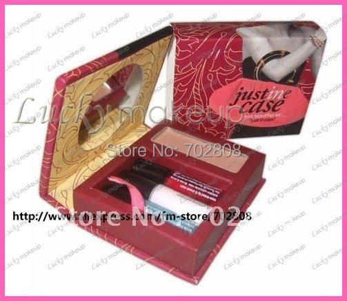 New makeup set powder+liquid blush+eye cream+lip gloss cosmetic kits Justine Sets(10 pcs/lots)10pcs(China (Mainland))