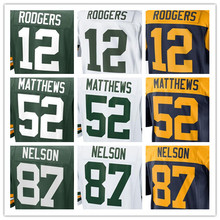 Best quality jersey,Men's 4 Brett Favre 12 Aaron Rodgers 27 Eddie Lacy 52 Clay Matthews 87 Jordy Nelson elite jerseys,Size 40-56(China (Mainland))
