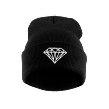 2015 fashion style Hip-Hop Men's Men Women Unisex cap With Diamond Pattern Beanies Winter Cotton knit wool Hats wholesale