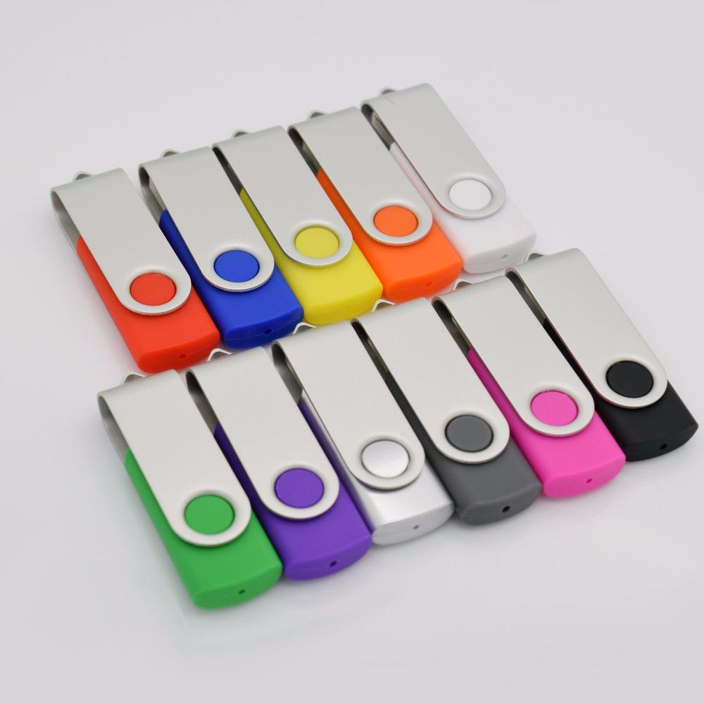 Hot sale rectangle u disk Plastic Swivel USB Flash Drive 2GB 4GB 8GB 16GB 32GB 64GB usb2.0 drive flash memory(China (Mainland))