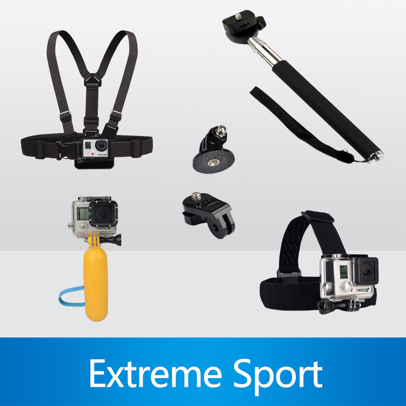 Gopro Accessories Monopod Tripod Float Bobber Chest Belt Set For Gopro Hero 4 Session 3 SJ4000 Xiaomi yi Camera Accessories(China (Mainland))