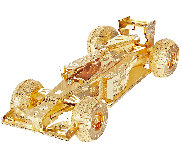 3D Jigsaw Classic DIY Metallic Nano Puzzle Formula car Model Kids Educational Puzzles Toys for Children&Adults coussin(China (Mainland))