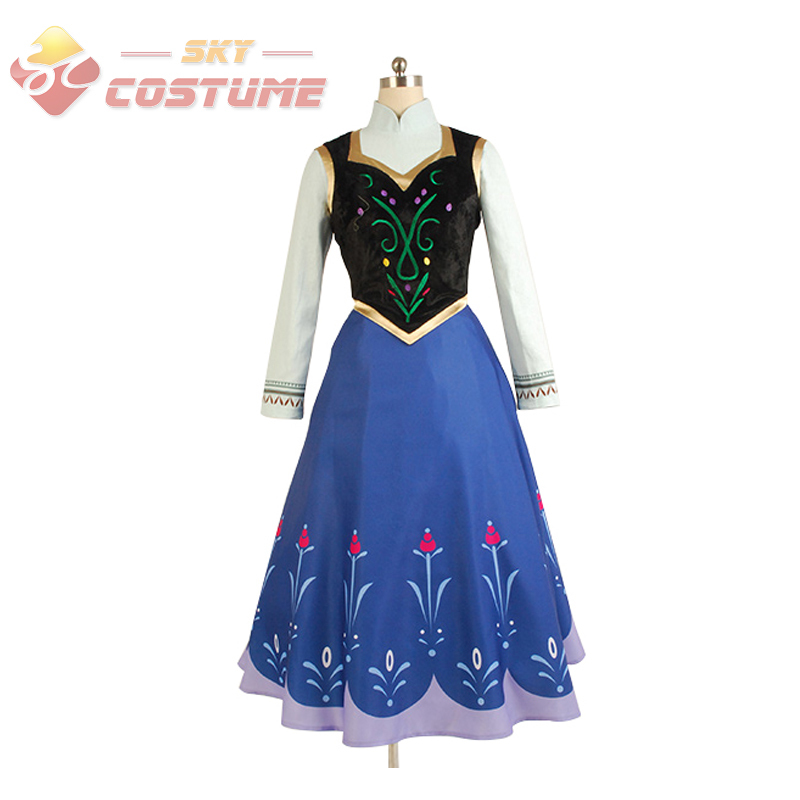 Hot Movie Elsa Princess Anna Dress Costume Without Cloak Halloween Pary For Adult Women Party Cosplay Costume Free ShippingОдежда и ак�е��уары<br><br><br>Aliexpress