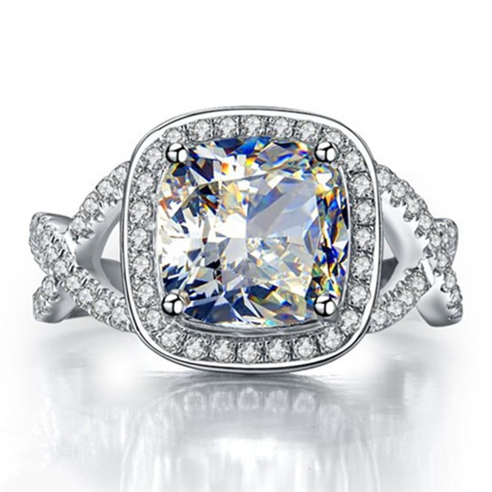 3 Carat Lasting Shine Synthetic Diamond Ring Wedding Ring Engagement Ring Cus
