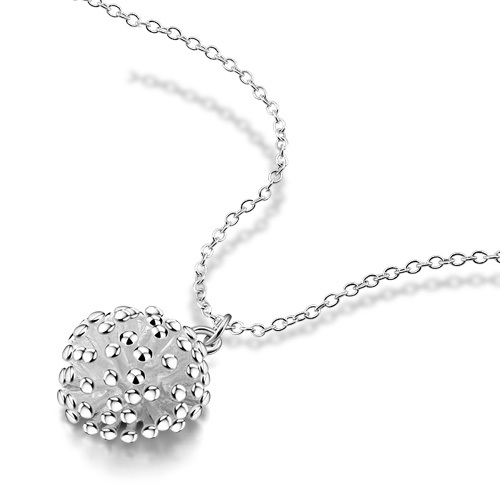 Hot sale!!!Round pendant necklace; 925 sterling silver lady's pendant necklace;New fashion design;(China (Mainland))
