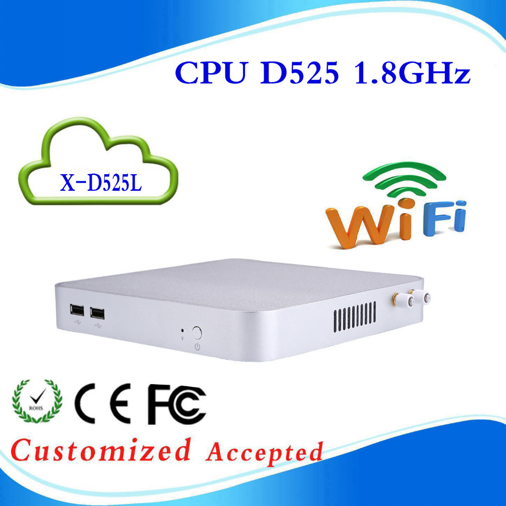 intel mini pc mini itx pc embedded server D525l d525 2G RAM 32G SSD support Windows 7, WIFI, Webcam, HDMI Hot on sale(China (Mainland))