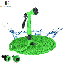 Hot Selling 25-150FT  Expandable Magic Flexible Garden Hose For Car Water Pipe Plastic Hoses To Watering With Spray Gun Green(China (Mainland))