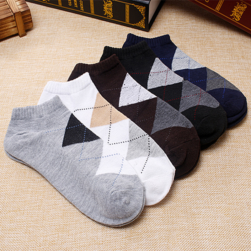 3pair Summer Men Brand New Socks Printed Casual Male Basketball Sport Socks Classic Men Business Short Socks Boat High Quality(China (Mainland))