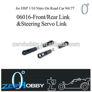 RC CAR SPARE PARTS FRONT/REAR LINK AND STEERING SERVO LINK FOR HSP 1/10 NITRO ON ROAD RACING CAR 94177 (part no. 06016)