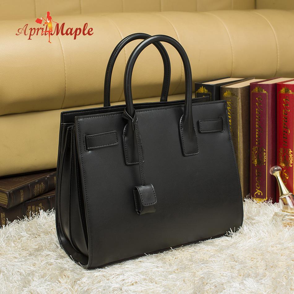 Famous Brand 100% genuine Real leather women handbag  Feel good High Quality Import leather shoulder bag Vintage Tote Bag 2 size<br><br>Aliexpress