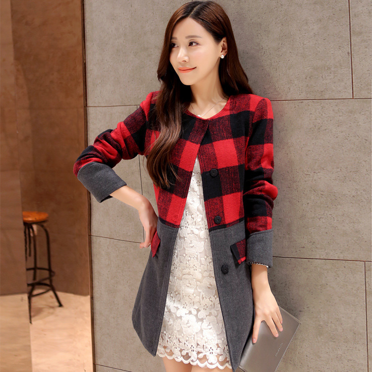 Wholesale 2015 new winter coat Korean Women temperament Slim was thin and long sections woolen coat tide QY150802701