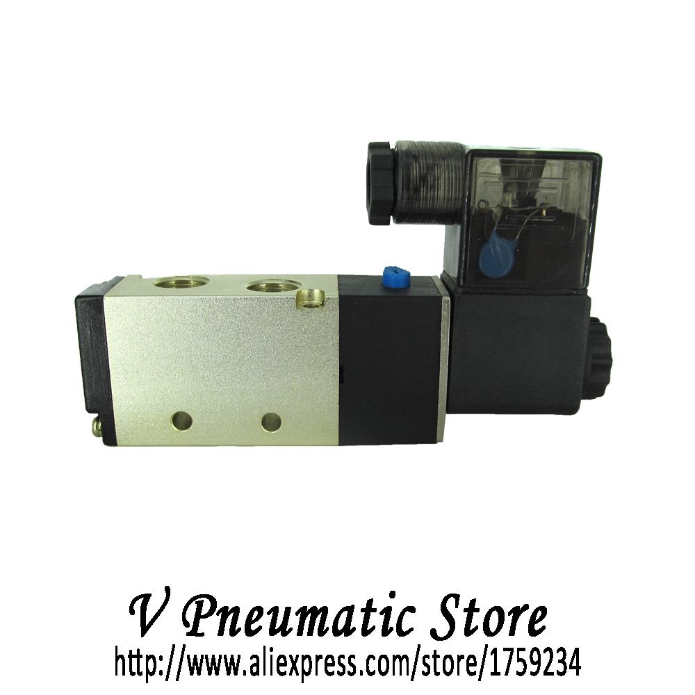 "G3/8"" aluminum material 5/2 way pneumatic air solenoid valve model 4V310-10(China (Mainland))"