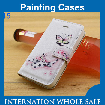 UMI C1 cross Case,UMI C1 cross Coloured Drawing or Pattern Flip Leather Cover Case 100pcs/lot Wholesale,Free Ship(China (Mainland))
