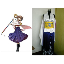 2016 Final Fantasy X Yuna anime cosplay Halloween Costumes costumes