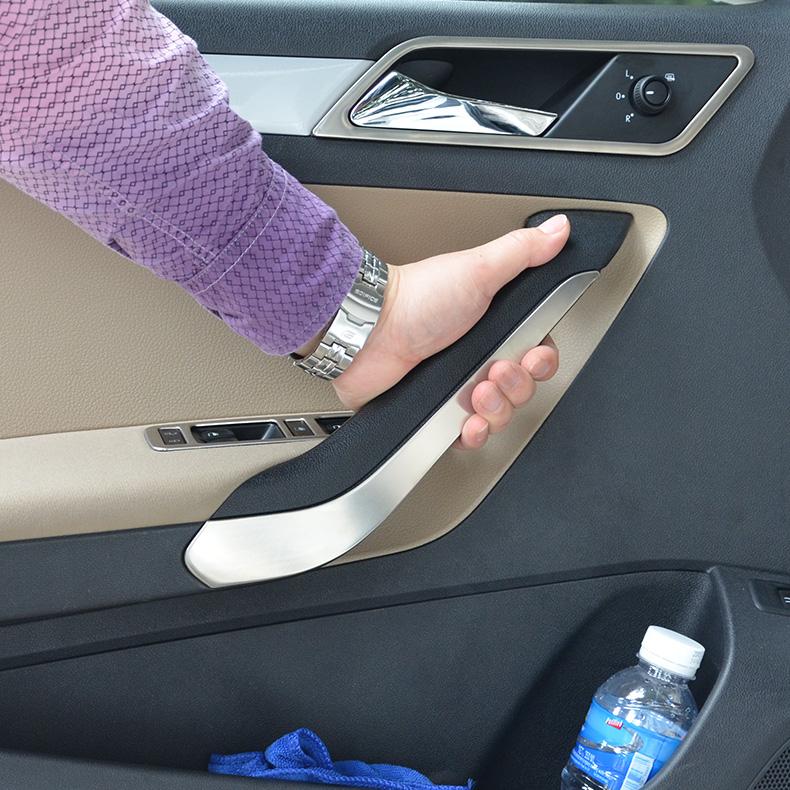 For 2015 Volkswagen vw New Jetta inner armrest Stainless steel door decorative door luggage rack highlight
