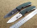 heat Tactical folding knife G10 steel handle D2 blade hunting life saving pocket knife EDC hand